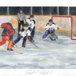 Exclusive Ringette Art - Shoot! Shoot!
